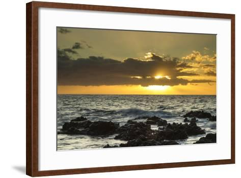Scenic of Ocean Sunset, Kihe, Maui, Hawaii, USA-Jaynes Gallery-Framed Art Print