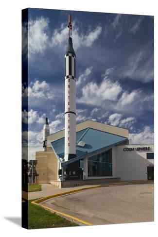 Kansas Cosmosphere and Space Center Exterior, Hutchinson, Kansas, USA-Walter Bibikow-Stretched Canvas Print