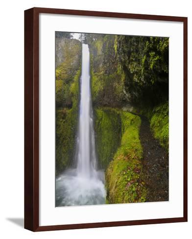 Tunnel Falls on Eagle Creek, Columbia Gorge, Oregon, USA-Gary Luhm-Framed Art Print