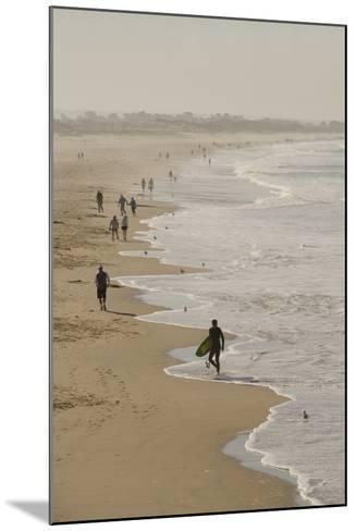 Surfer and People on Pismo State Beach, Pismo Beach, California, USA-Cindy Miller Hopkins-Mounted Photographic Print