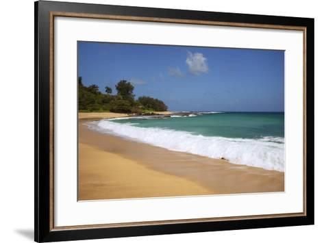 Scenic of Secret Beach, Kauai, Hawaii, USA-Jaynes Gallery-Framed Art Print