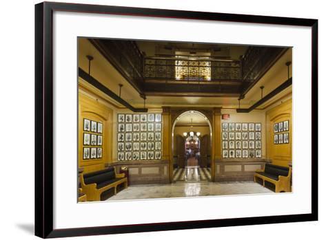 Kansas State Capital Interior, Topeka, Kansas, USA-Walter Bibikow-Framed Art Print