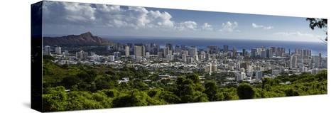 Downtown Honolulu, Hawaii, USA-Charles Crust-Stretched Canvas Print