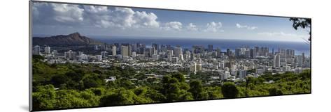 Downtown Honolulu, Hawaii, USA-Charles Crust-Mounted Photographic Print