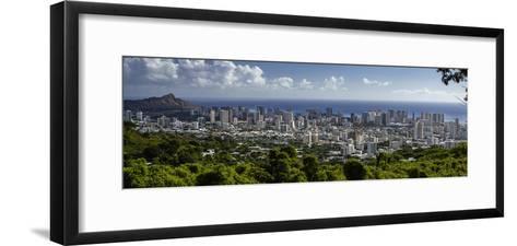 Downtown Honolulu, Hawaii, USA-Charles Crust-Framed Art Print