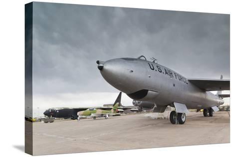 Boeing B-47, Kansas Aviation Museum, Wichita, Kansas, USA-Walter Bibikow-Stretched Canvas Print