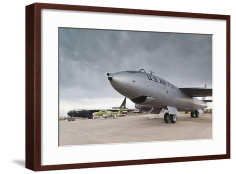 Boeing B-47, Kansas Aviation Museum, Wichita, Kansas, USA-Walter Bibikow-Framed Art Print