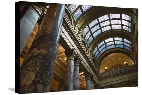 Minnesota State Capitol Interior, Stpaul, Minneapolis, Minnesota, USA-Walter Bibikow-Stretched Canvas Print