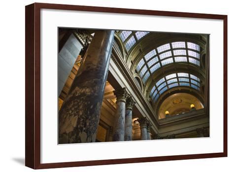 Minnesota State Capitol Interior, Stpaul, Minneapolis, Minnesota, USA-Walter Bibikow-Framed Art Print