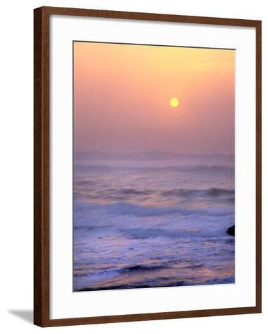 Sun Setting over the Pacific Ocean, Oregon, USA-Jaynes Gallery-Framed Art Print