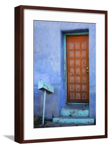 Colorful Doorway, Barrio Historico District,Tucson, Arizona, USA-Jamie & Judy Wild-Framed Art Print