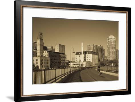 Stone Arch Bridge, Stpaul, Minneapolis, Minnesota, USA-Walter Bibikow-Framed Art Print