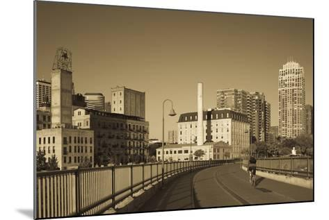 Stone Arch Bridge, Stpaul, Minneapolis, Minnesota, USA-Walter Bibikow-Mounted Photographic Print