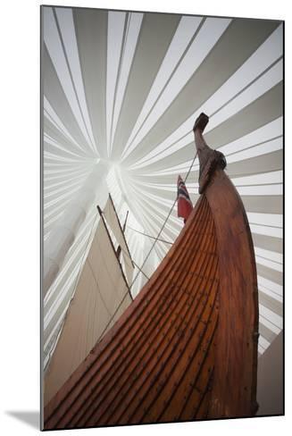 Heritage Hejmkomstviking Ship Replica, Moorhead, Minnesota, USA-Walter Bibikow-Mounted Photographic Print
