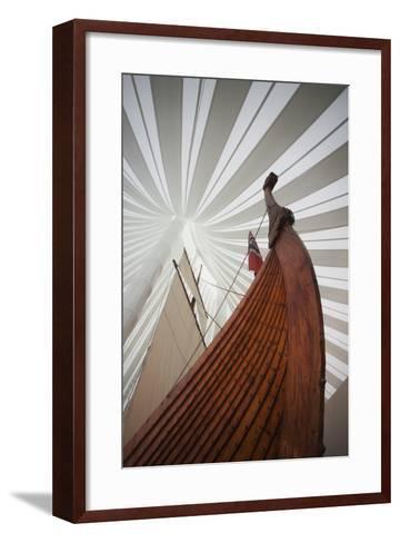 Heritage Hejmkomstviking Ship Replica, Moorhead, Minnesota, USA-Walter Bibikow-Framed Art Print