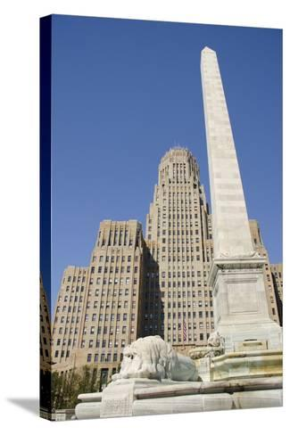Historic City Hall, McKinley Monument Obelisk, Buffalo, New York, USA-Cindy Miller Hopkins-Stretched Canvas Print