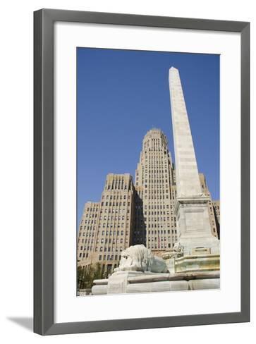 Historic City Hall, McKinley Monument Obelisk, Buffalo, New York, USA-Cindy Miller Hopkins-Framed Art Print