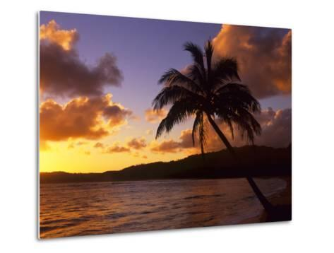 Tropical Sunrise on the Garden Isle, Kauai, Hawaii, USA-Jerry Ginsberg-Metal Print