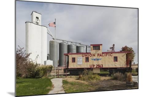 Grain Elevator, Hershey, Nebraska, USA-Walter Bibikow-Mounted Photographic Print