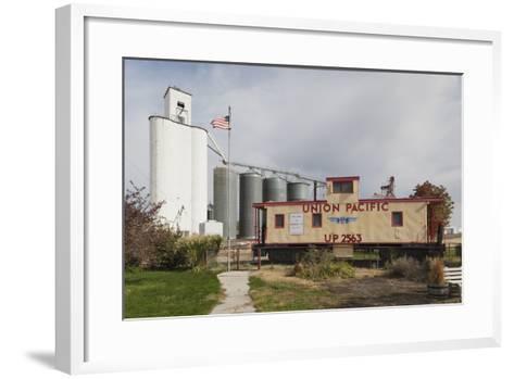 Grain Elevator, Hershey, Nebraska, USA-Walter Bibikow-Framed Art Print
