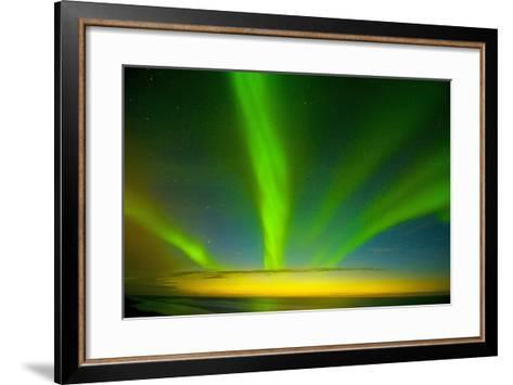 Northern Lights, Beaufort Sea, ANWR, Alaska, USA-Steve Kazlowski-Framed Art Print