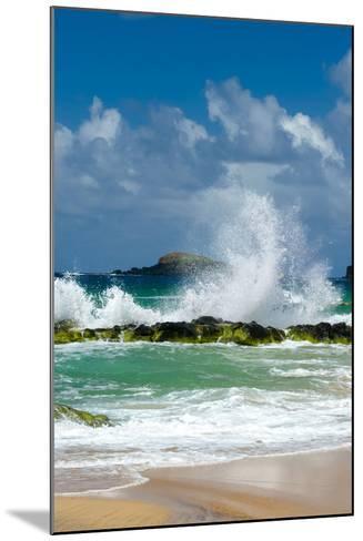 Waves Breaking on the Rocks at Kauapea Beach, Kauai, Hawaii, USA-Richard Duval-Mounted Photographic Print