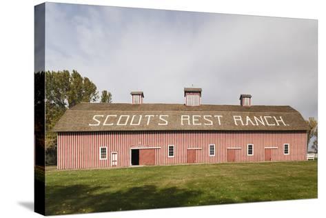 Scout's Rest Ranch, North Platte, Nebraska, USA-Walter Bibikow-Stretched Canvas Print