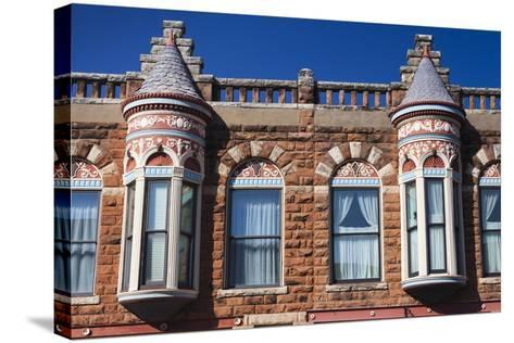 Downtown Historic Buildings, Guthrie, Oklahoma, USA-Walter Bibikow-Stretched Canvas Print