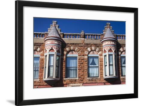 Downtown Historic Buildings, Guthrie, Oklahoma, USA-Walter Bibikow-Framed Art Print