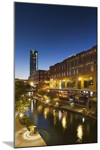 Entertainment District, Bricktown, Oklahoma City, Oklahoma, USA-Walter Bibikow-Mounted Photographic Print