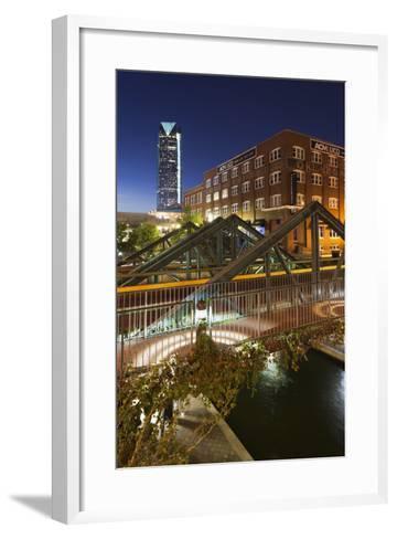 Entertainment District, Bricktown, Oklahoma City, Oklahoma, USA-Walter Bibikow-Framed Art Print