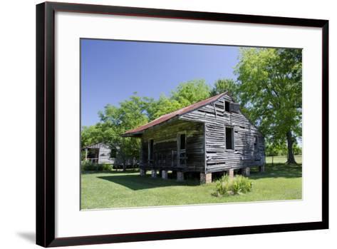 Slave Cabin, Vacherie, New Orleans, Louisiana, USA-Cindy Miller Hopkins-Framed Art Print