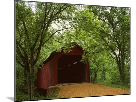 Sandy Creek Covered Bridge, Jefferson County, Missouri, USA-Charles Gurche-Mounted Photographic Print