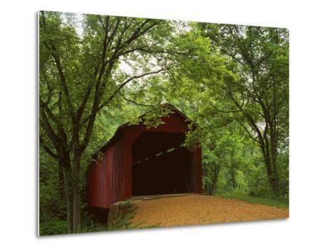 Sandy Creek Covered Bridge, Jefferson County, Missouri, USA-Charles Gurche-Metal Print
