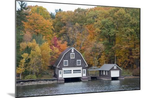 Island Home in Autumn, American Narrows, New York, USA-Cindy Miller Hopkins-Mounted Photographic Print