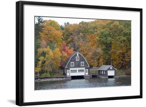 Island Home in Autumn, American Narrows, New York, USA-Cindy Miller Hopkins-Framed Art Print