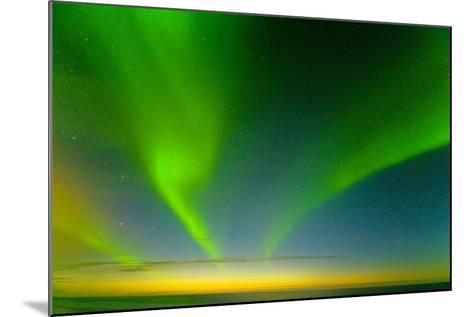 Northern Lights over the Sea, Beaufort Sea, ANWR, Alaska, USA-Steve Kazlowski-Mounted Photographic Print