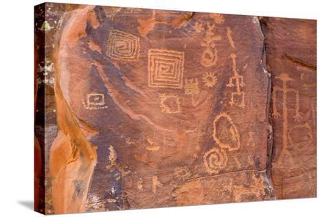 Petroglyphs, V Bar V Heritage Site, Arizona, USA-Jamie & Judy Wild-Stretched Canvas Print