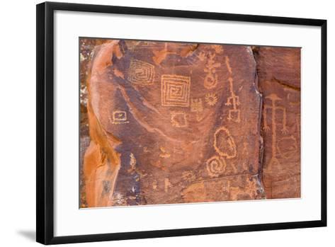 Petroglyphs, V Bar V Heritage Site, Arizona, USA-Jamie & Judy Wild-Framed Art Print