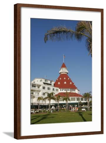 Hotel Del Coronado, Coronado, San Diego, California, USA-Peter Bennett-Framed Art Print