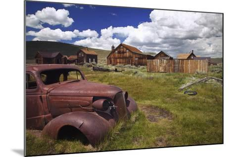 Wood Buildings and Old Car, Bodie State Historic Park, California, USA-Jaynes Gallery-Mounted Photographic Print