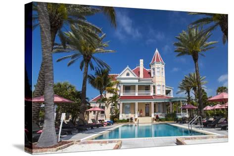 Pool at Southernmost House Inn in Key West Florida, USA-Chuck Haney-Stretched Canvas Print