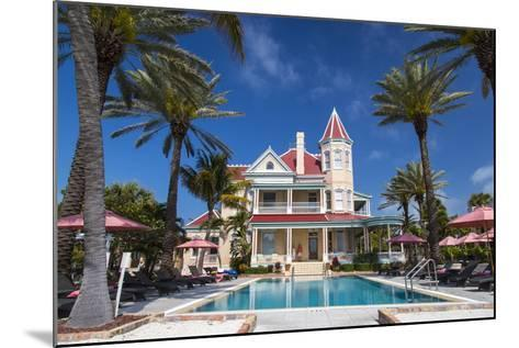 Pool at Southernmost House Inn in Key West Florida, USA-Chuck Haney-Mounted Photographic Print