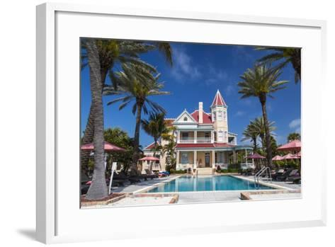 Pool at Southernmost House Inn in Key West Florida, USA-Chuck Haney-Framed Art Print
