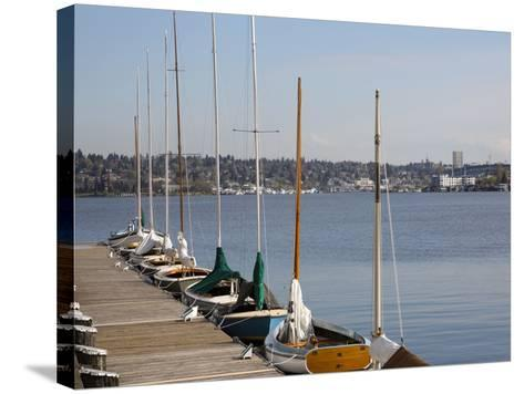 Center for Wooden Boats, Lake Union, Seattle, Washington, USA-Jamie & Judy Wild-Stretched Canvas Print
