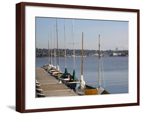 Center for Wooden Boats, Lake Union, Seattle, Washington, USA-Jamie & Judy Wild-Framed Art Print