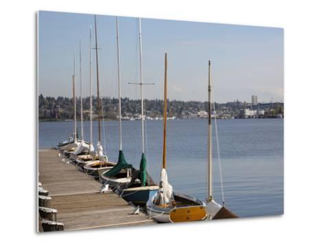 Center for Wooden Boats, Lake Union, Seattle, Washington, USA-Jamie & Judy Wild-Metal Print