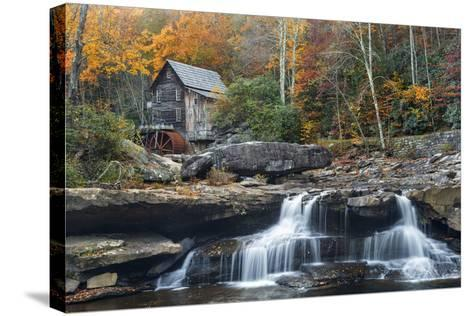 Grist Mill on Glade Creek at Babcock State Park, West Virginia, USA-Chuck Haney-Stretched Canvas Print