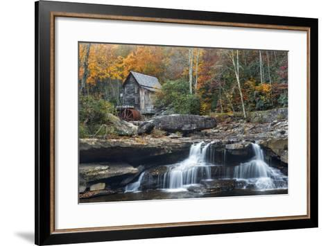 Grist Mill on Glade Creek at Babcock State Park, West Virginia, USA-Chuck Haney-Framed Art Print