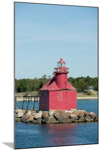 North Pierhead Lighthouse, Sturgeon Bay, Door County, Wisconsin, USA-Cindy Miller Hopkins-Mounted Photographic Print